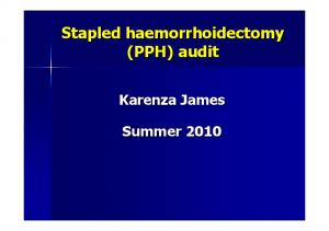 Stapled haemorrhoidectomy (PPH) audit