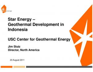 Star Energy Geothermal Development in Indonesia