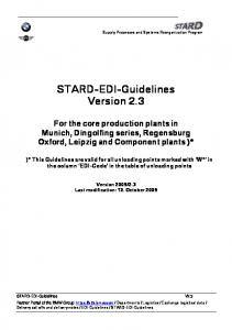 STARD-EDI-Guidelines Version 2.3