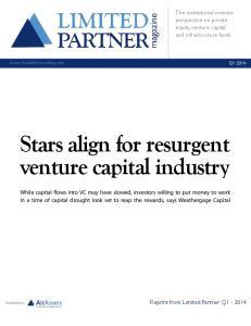 Stars align for resurgent venture capital industry