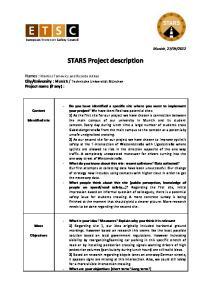 STARS Project description