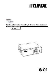 StarServe Contractor Series Single Channel Video Modulator Installation Instructions 8071VMP