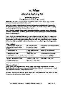 Starship Lighting Kit