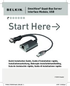 Start Here. OmniView Quad-Bus Server Interface Module, USB