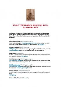 START YOUR DREAM BUSINESS: RUN A GLAMPING SITE