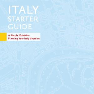 starter guide A Simple Guide for Planning Your Italy Vacation