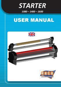 STARTER USER MANUAL USER MANUAL STARTER TRANSLATED FROM ORIGINAL VERSION: EDITION 1