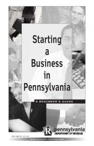 Starting a Business in Pennsylvania
