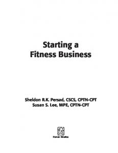 Starting a Fitness Business