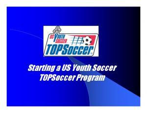 Starting a US Youth Soccer TOPSoccer Program
