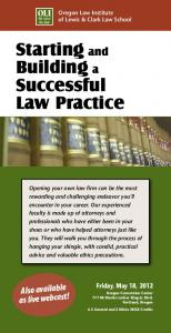Starting and Building a Successful Law Practice