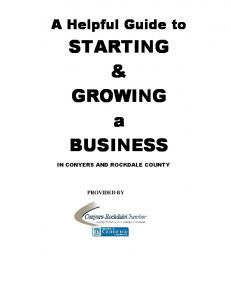 STARTING & GROWING a BUSINESS