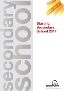 Starting Secondary School 2017