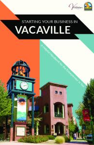 STARTING YOUR BUSINESS IN VACAVILLE