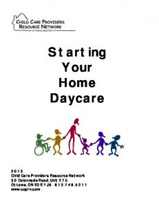 Starting Your Home Daycare