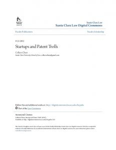 Startups and Patent Trolls