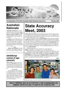 State Accuracy Meet, 2003