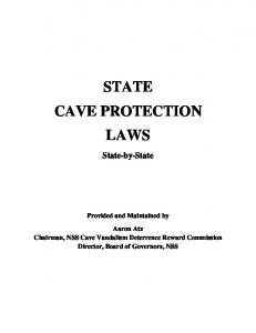 STATE CAVE PROTECTION LAWS