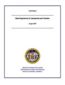 State Department of Assessments and Taxation