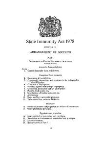State Immunity Act 1978