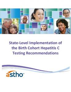State-Level Implementation of the Birth Cohort Hepatitis C Testing Recommendations