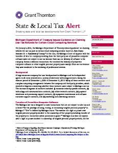 State & Local Tax Alert