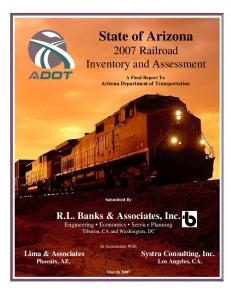 State of Arizona 2007 Railroad Inventory and Assessment