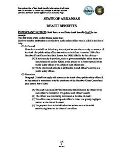 STATE OF ARKANSAS DEATH BENEFITS