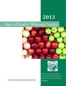 State of Health: Watauga County