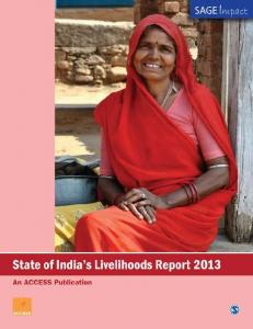 State of India s Livelihoods Report 2013