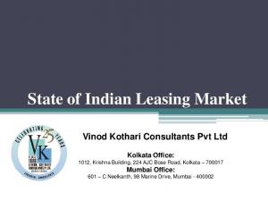 State of Indian Leasing Market