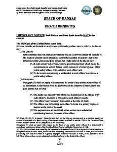 STATE OF KANSAS DEATH BENEFITS