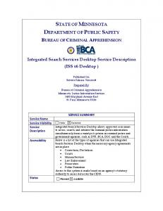 STATE OF MINNESOTA DEPARTMENT OF PUBLIC SAFETY