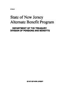 State of New Jersey Alternate Benefit Program