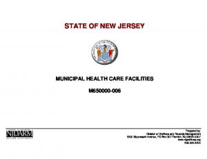 STATE OF NEW JERSEY MUNICIPAL HEALTH CARE FACILITIES M