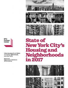 State of New York City s Housing and Neighborhoods in 2017