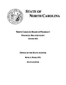 STATE OF NORTH CAROLINA