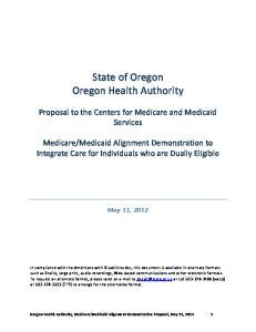 State of Oregon Oregon Health Authority