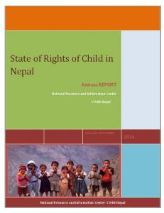 State of Rights of Child in Nepal