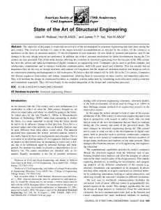 State of the Art of Structural Engineering