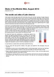 State of the Mobile Web, August 2012