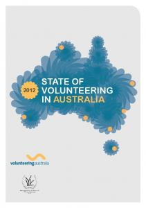 STATE OF VOLUNTEERING IN AUSTRALIA