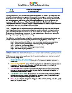 State Policy Blueprint Planning Guide