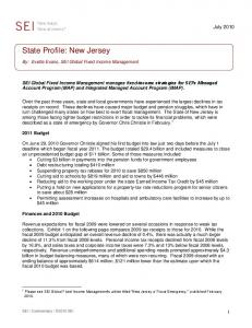 State Profile: New Jersey
