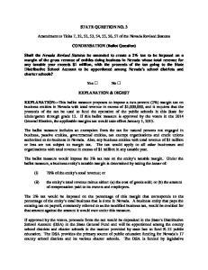 STATE QUESTION NO. 3. CONDENSATION (Ballot Question)