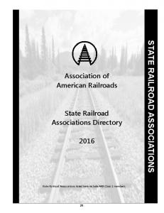 STATE RAILROAD ASSOCIATIONS
