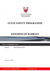 STATE SAFETY PROGRAMME KINGDOM OF BAHRAIN