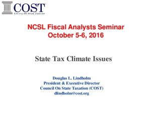 State Tax Climate Issues
