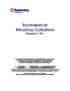 STATEMENT OF FINANCIAL CONDITION December 31, 2011