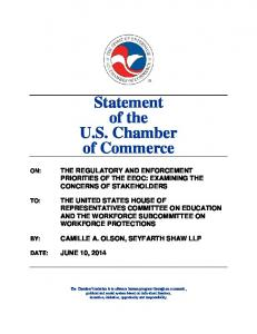 Statement of the U.S. Chamber of Commerce